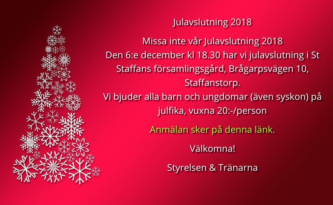 Julavslutning 2018